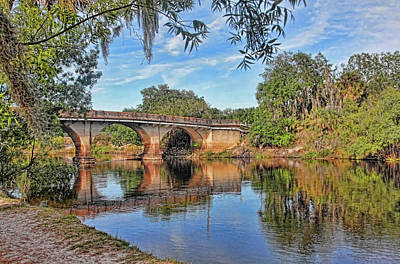 Photograph - Old Peace River Bridge by HH Photography of Florida