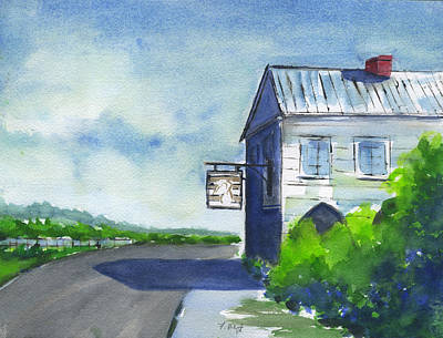 Painting - Old Pelican Inn by Frank Bright
