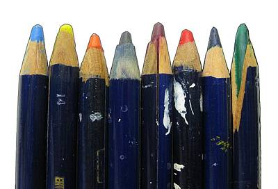 Photograph - Old Pencils In A Row by Tom Conway