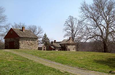 Lafayettes Headquarters Photograph - Old Pennsylvania Farmstead by Gordon Beck