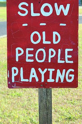 Photograph - Old People Playing by Cynthia Guinn