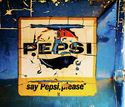 Photograph - Old Pepsi Sign by M G Whittingham