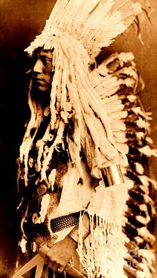 Photograph - Old Person Piegan Blackfoot American Indian 1911 by Peter Gumaer Ogden Collection