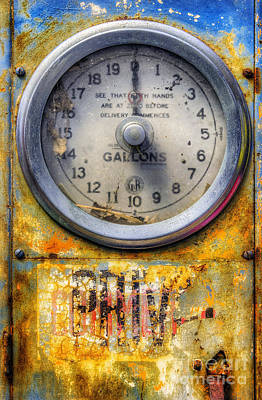Photograph - Old Petrol Pump Gauge by Ian Mitchell