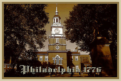 Photograph - Old Philadelphia 1776 - Independence Hall by Art America Gallery Peter Potter