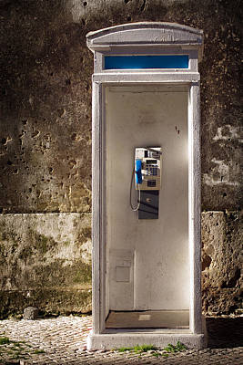 Antique Telephone Photograph - Old Phonebooth by Carlos Caetano