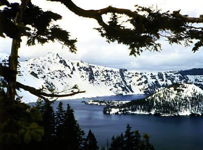 Photograph - Old Photo Crater Lake 1950s by Marilyn Hunt