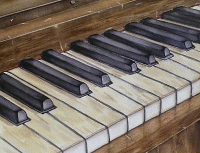 Painting - Old Piano Keys by Kelly Mills