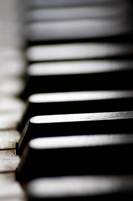 Photograph - Old Piano Keys by Steve Ball