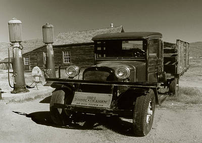Photograph - Old Pickup Truck 1927 - Vintage Photo Art Print by Art America Gallery Peter Potter