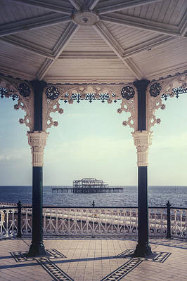 old pier Brighton Art Print
