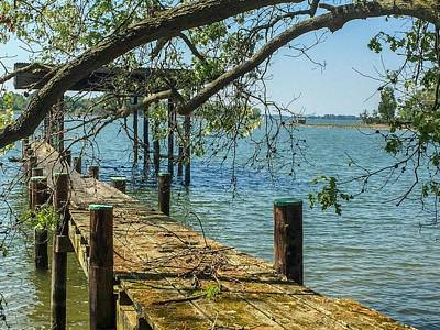 Photograph - Old Pier On The Tred Avon by Charles Kraus