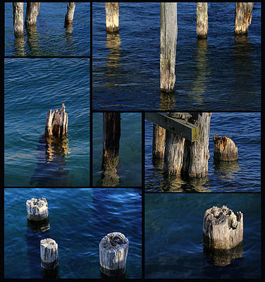 Photograph - Old Pilings 3 by Mary Bedy