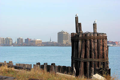 Photograph - Old Pilings And Sarnia by Mary Bedy