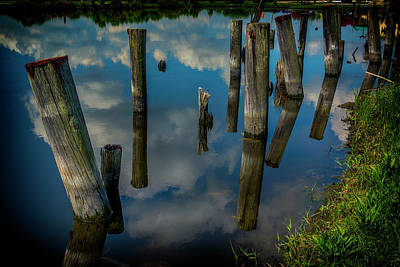 Photograph - Old Pilings Reflections Nola Dsc05423 by Greg Kluempers