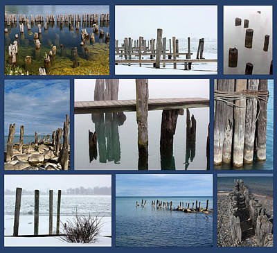 Photograph - Old Pilings Version 2 by Mary Bedy