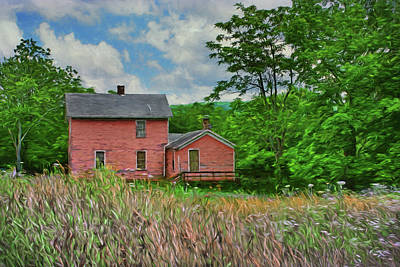 Photograph - Old Pink Farmhouse by Nikolyn McDonald