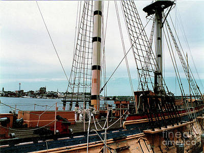 Photograph - Old Pirate Ship - Gloucester Harbor by Merton Allen