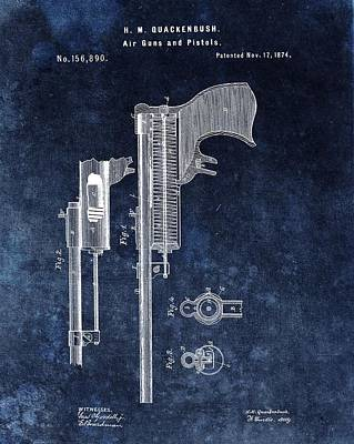 1874 Mixed Media - Old Pistol Patent by Dan Sproul