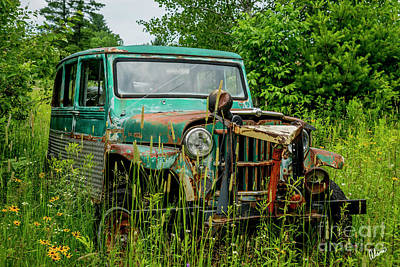 Photograph - Old Plow Jeep by Alana Ranney