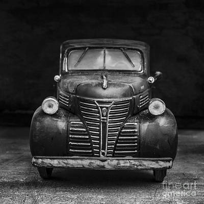 Old Trucks Photograph - Old Plymouth Truck Square by Edward Fielding