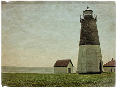 Photograph - Old Point Judith Light by Mike Martin