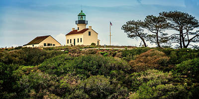 Photograph - Old Point Loma Lighthouse Cabrillo National Monument Ca_7r2_dsc3141_17-01-14 by Greg Kluempers