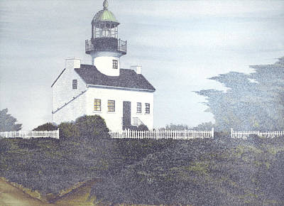 Historic Site Mixed Media - Old Point Loma Lighthouse by James Lyman