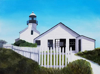 Painting - Old Point Loma Lighthouse by Karyn Robinson