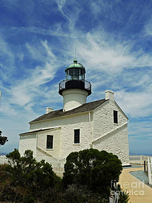 Photograph - Old Point Loma Lighthouse by Methune Hively