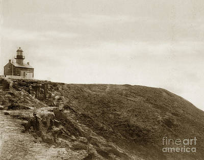 Photograph - Old Point Loma Lighthouse San Diego Circa 1872 by California Views Mr Pat Hathaway Archives