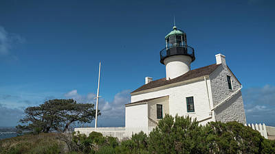 Photograph - Old Point Loma San Diego Lighthouse California by Lawrence S Richardson Jr