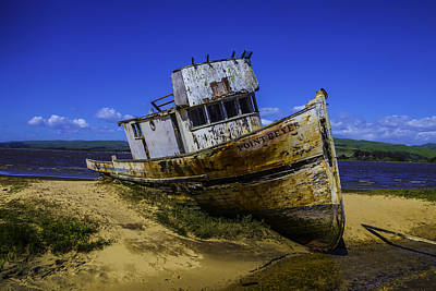 Point Reyes Photograph - Old Point Reyes Boat by Garry Gay
