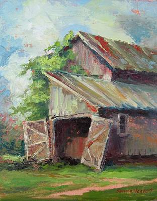 Painting - Old Pole Barn by Sharon Weaver