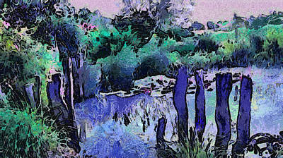 Photograph - Old Pond In Moonlight. Van Gogh Fantasy by Jenny Rainbow