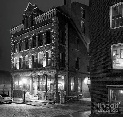 Photograph - Old Port, Portland, Maine  #69480-69482-bw by John Bald