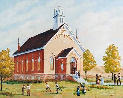 Old Porterville Church Summer Art Print by JoAnne Corpany