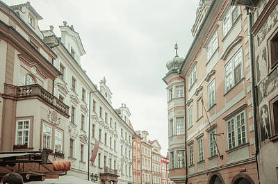 Photograph - Old Prague Buildings. Staromestska Square by Jenny Rainbow