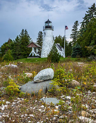 Photograph - Old Presque Isle Lighthouse by Kimberly Kotzian