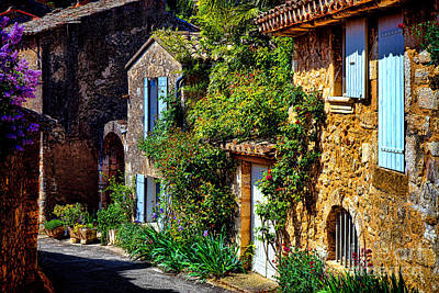 France Provence Photograph - Old Provencal Village Street by Olivier Le Queinec