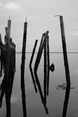Photograph - Old Provincetown Wharf II Bw by David Gordon