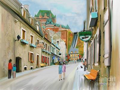 Quebec Streets Painting - Old Quebec by Aline Halle-Gilbert