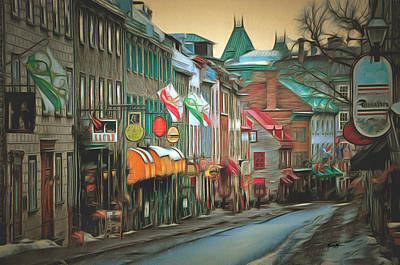 Caruso Digital Art - Old Quebec City by Anthony Caruso