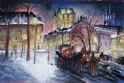 Mixed Media - old Quebec by Peter Suhocke