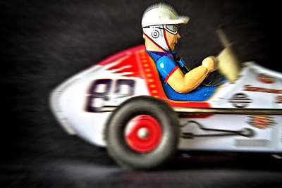 Old Race Car Art Print by Rudy Umans