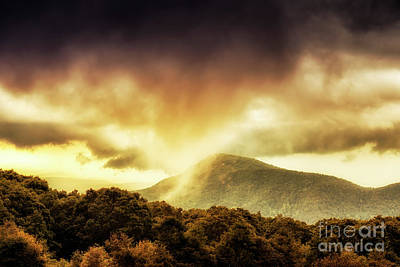 Photograph - Old Rag View Overlook Storm Clouds by Thomas R Fletcher