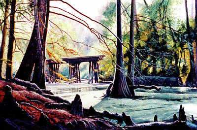 Painting - Old Railroad Bridge by Randy Welborn