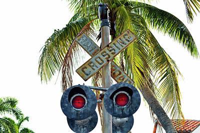 Old Railroad Crossing Sign Art Print