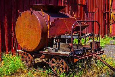 Old Railroad Equipment Art Print