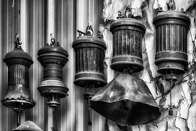 Photograph - Old Railroad Lanterns by James Barber